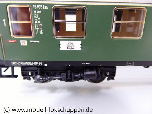 Märklin 43930 H0 Schnellzugwagen der DB 1./2. Klasse AB4üm-63 der DB     3