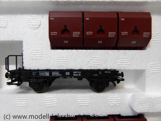 """Märklin 48270 H0 Wagen-Set """"Kohletransport"""", DB, Ep. 3  3"""