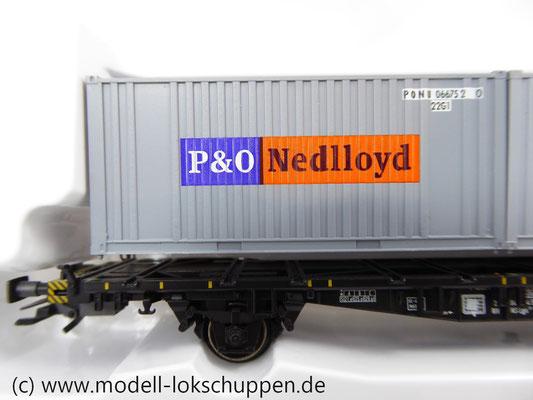 Märklin 47683 Containertragwagen der NS mit 2 Containern Nedloyd, P&O