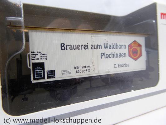 K23 Märklin 48282 Bierwagen Brauerei Zum Waldhorn Plochingen Württemberg    4