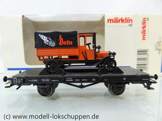 Märklin 46841 Flachwagen der DRG mit BERU LKW aus Guß Limitiertes Sondermodell