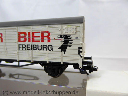 "Märklin 46201 Insider-Wagen 2004: Gedeckter Güterwagen ""Ganter Bier""     5"