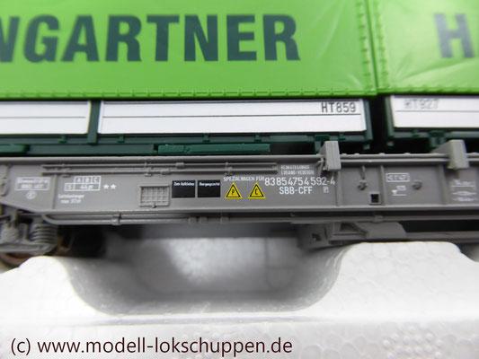"Roco 66595  Einheitstaschenwagen SBB ""Hangartner AG"" OVP   4"