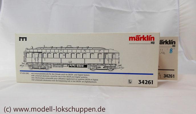 Märklin H0 34261 Diesel-Triebwagen VT 859 der DRG, Delta, MHI 1998    2