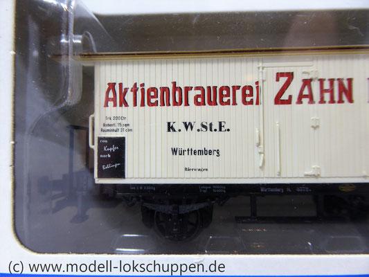 Märklin 48281 Bierwagen der K.W.St.E. Aktienbrauerei Zahn Böblingen    2