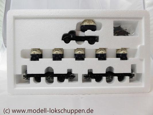 Märklin 48947  Tragwagen-Set mit Birkel pa-Behältern   3