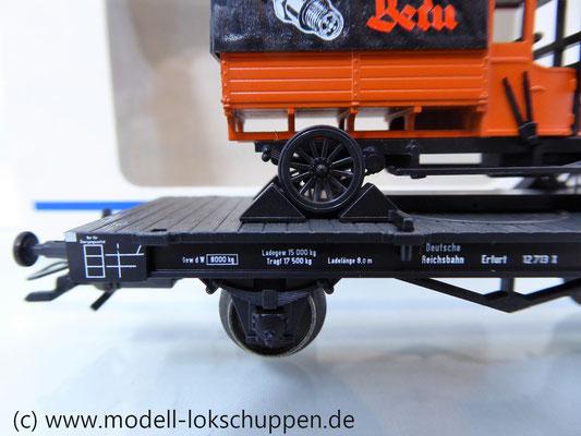 Märklin 46841 Flachwagen der DRG mit BERU SAG LKW aus Guß Limitiertes Sondermodell