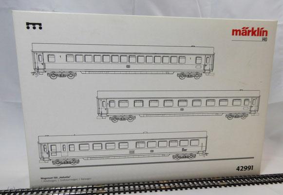 """Märklin 42991 Personenwagen-Set """"TEE-Helvetia"""" Ep. IV (3-tlg.) Deutschen Bundesbahn"""