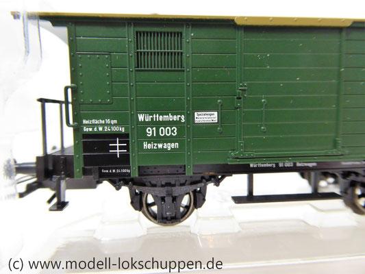 Märklin 48852 / Heizwagen Typ H der K.W.St.E. mit 2 Bremserbühnen      2