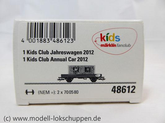 Märklin 48612 Märklin Kids Club 2012 Niderbordwagen Kklm m. 20 Fuß Container    1
