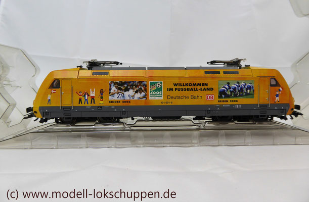 """Märklin 39370 E-Lok BR 101 """"Fußball WM 2006"""" Insider Modell 2000   4"""