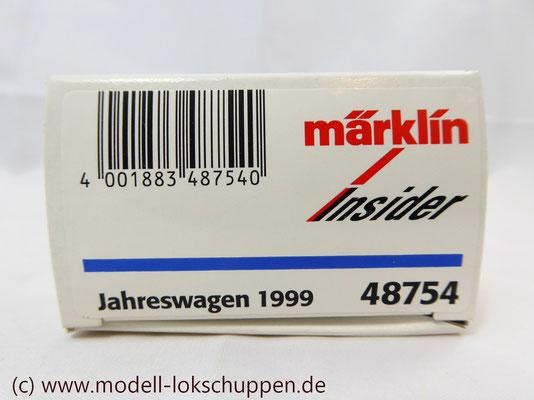 """Märklin H0 48754 Insider Jahreswagen 1999 """"Robert Metzger & Co""""    1"""