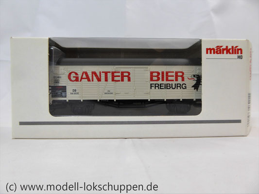 "Märklin 46201 Insider-Wagen 2004: Gedeckter Güterwagen ""Ganter Bier""     2"