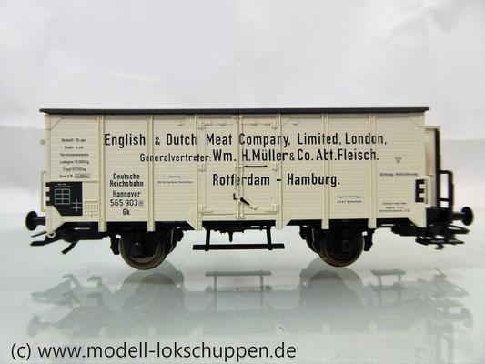 """Fleischmann 835348 DRG II Gk """"Hannover"""" Kühlwagen mit Bremserhaus """"English & Dutch Meat Company"""""""