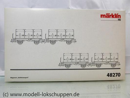 """Märklin 48270 H0 Wagen-Set """"Kohletransport"""", DB, Ep. III  1"""