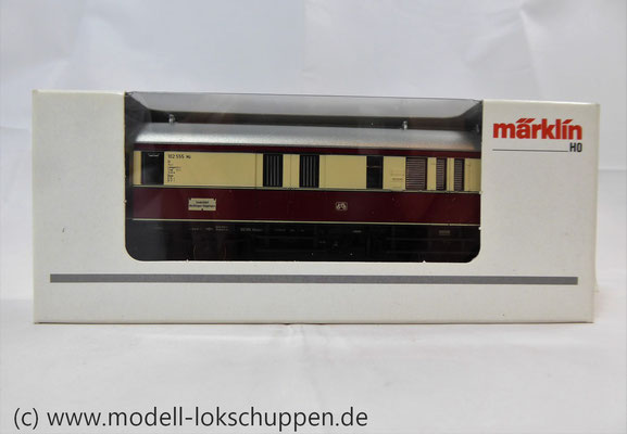 """Märklin 43151 / Einheitsnebenbahnwagen Postwagen Pwi der DB Sonderfahrt """"Nördlingen - Göppingen""""     1"""