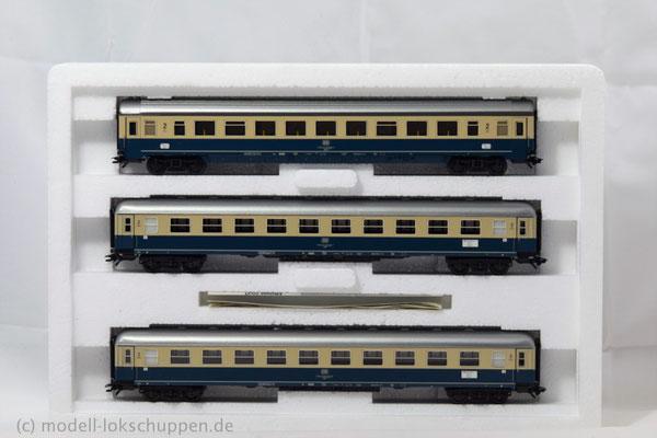 """Schnellzugwagen-Satz """"IC Südwind"""", 2. Klasse. /Märklin 42994"""