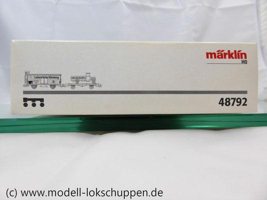 """Märklin 48792 DRG G-Wagen Set Biertransport Ep.2 """"Ledererbräu Nürnberg"""" MHI Sondermodell   2"""