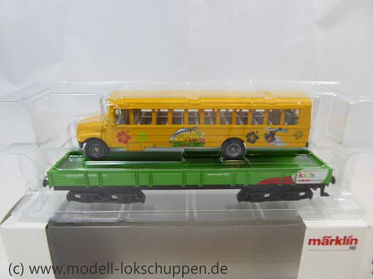 Märklin 48613 / Märklin Kids Club Jahreswagen 2013  Niederbordwagen mit Schulbus     4