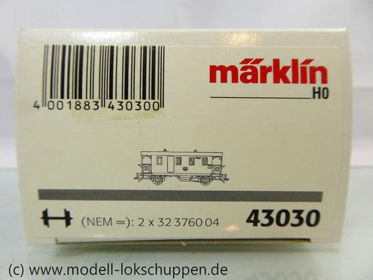 Märklin 43030 Nebenbahnwagen Post und Gepäckwagen der DB H0   1