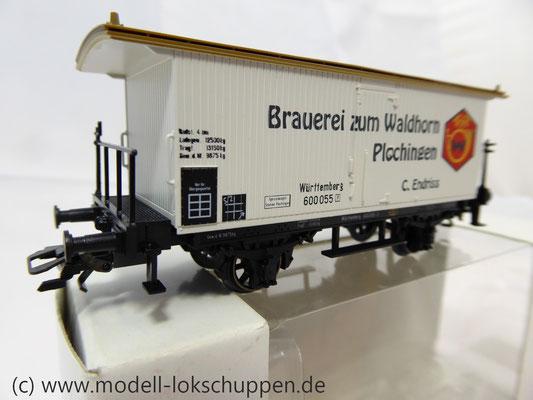 K23 Märklin 48282 Bierwagen Brauerei Zum Waldhorn Plochingen Württemberg    2