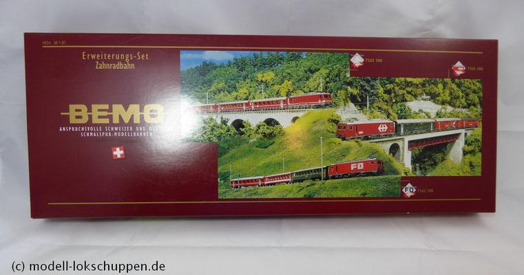 Bemo 7262 200 - HGe 4/4 II - Nr. 107 - Grimsel + 3 Personenwagen - FO - BVZ - RhB - H0m_1