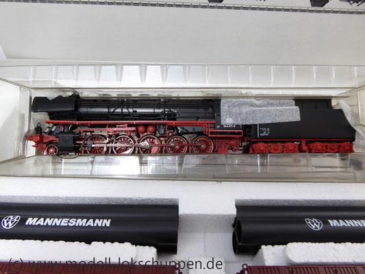 Märklin 26558 Einmalige Serie BR 44  DB mit schwerem Güterzug Stahlröhren    6