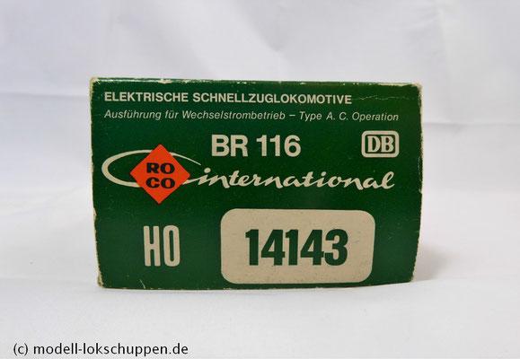 Roco H0 AC 14143 Elektrolokomotive der DB BR 116 019-1   1