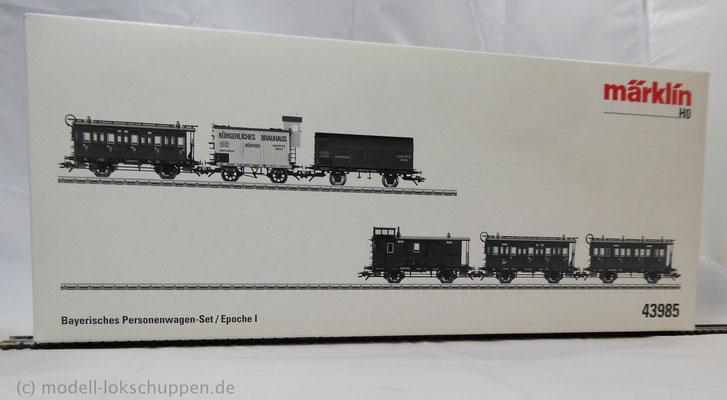 Märklin 43985 Bayerisches Personenwagen-Set / Epoche I    1