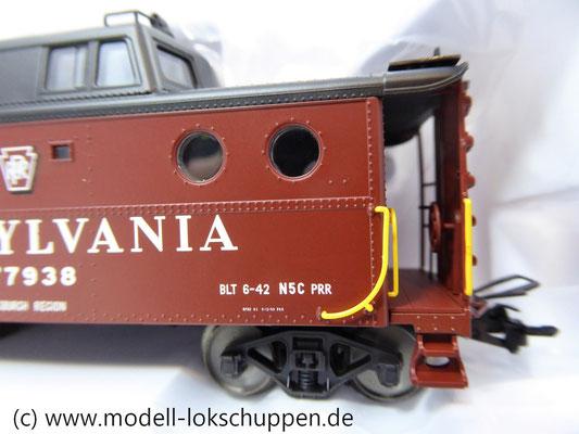 Märklin 45705  Güterzugbegleitwagen  Caboose Typ N5c der Pennsylvania Railroad    6