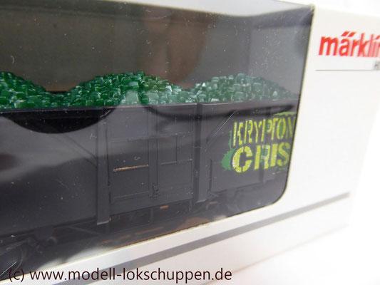 Märklin 48706 1. FC-Märklin Supermann Waggon m. Kryptonit-Ladung Jahreswagen 2006