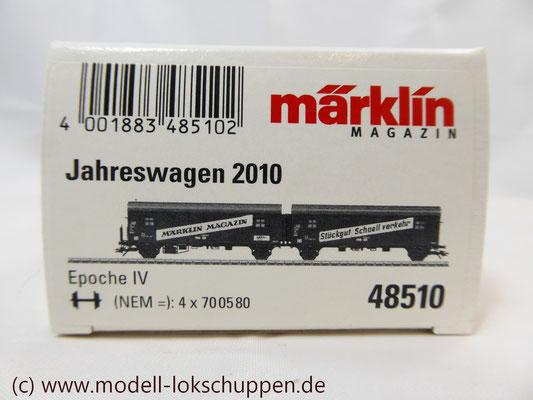 "Märklin 48510 Märklin Magazin Jahreswagen 2010 ""Leig -Einheit""- Wagenpaar"