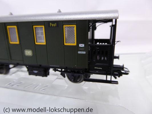 Märklin 43030 Nebenbahnwagen Post und Gepäckwagen der DB H0   8
