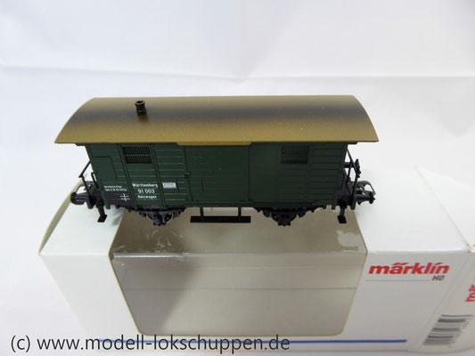 Märklin 48852 / Heizwagen Typ H der K.W.St.E. mit 2 Bremserbühnen      6