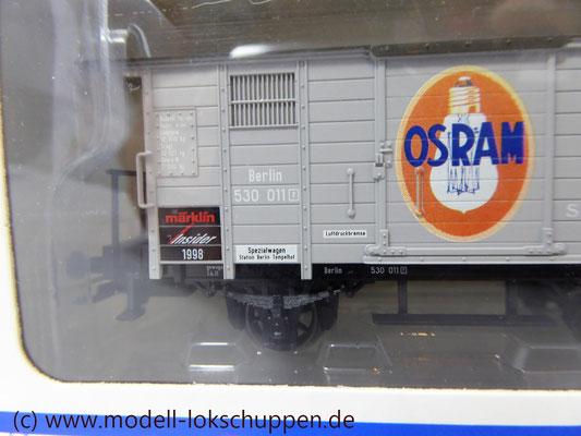 """Insider-Wagen 1997 Gedeckter Güterwagen mit Flachdach """"Osram"""" / H0 Märklin 48853     4"""