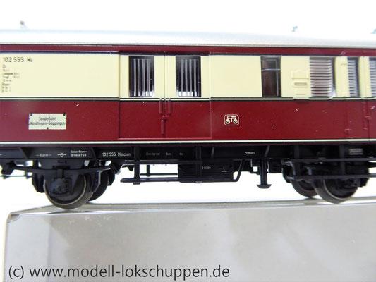 """Märklin 43151 / Einheitsnebenbahnwagen Postwagen Pwi der DB Sonderfahrt """"Nördlingen - Göppingen""""    4"""