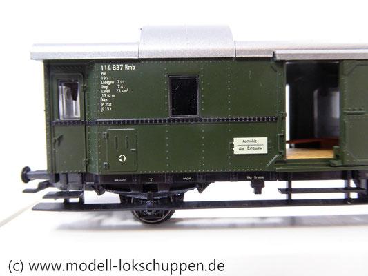 """Märklin 4316 Gepäckwagen """"Donnerbüchse""""-Einheitswagen Pwi der DB      2"""