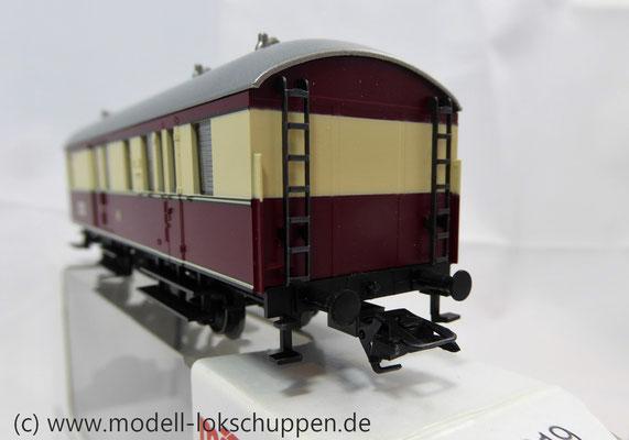 """Märklin 43151 / Einheitsnebenbahnwagen Postwagen Pwi der DB Sonderfahrt """"Nördlingen - Göppingen""""    6"""