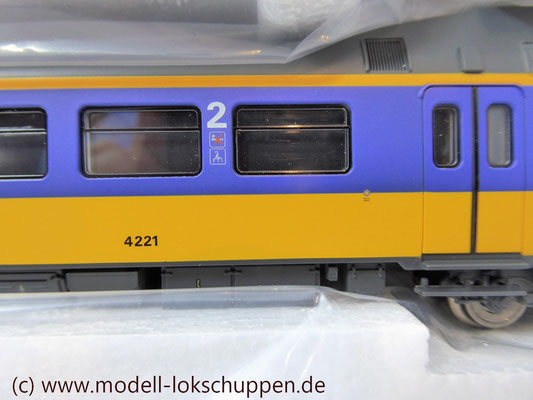 Märklin H0 37421 Triebzug ELA4 Koploper NS mfx Digital Sound OVP 7