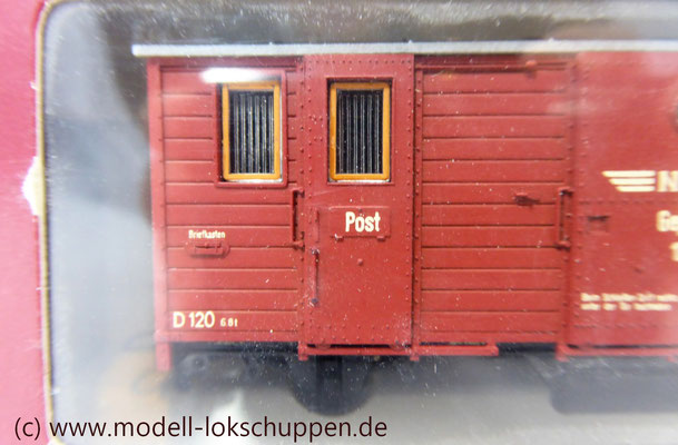 Bemo 3001 930  Post- / Gepäckwagen NKB 120 H0m