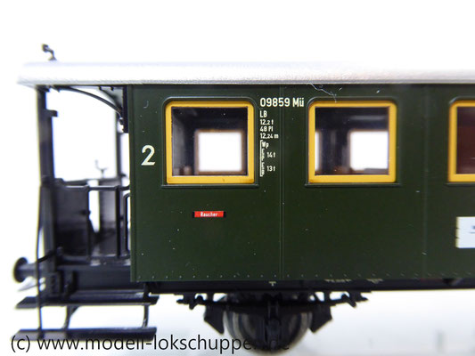 Märklin 43010 Nebenbahnwagen 2Kl. DB Epoche 3 grün H0     6