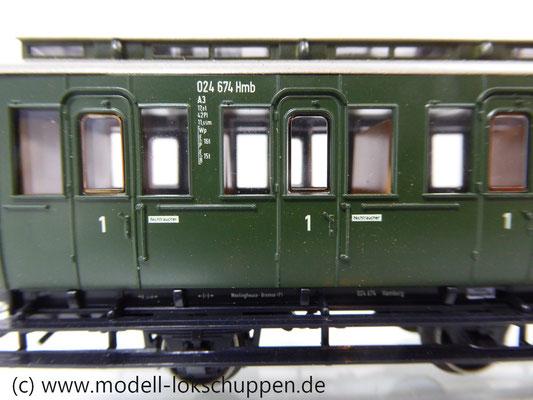 Märklin 4200 Preußische Abteilwagen Reihe A3 Pr 14 der DB    3