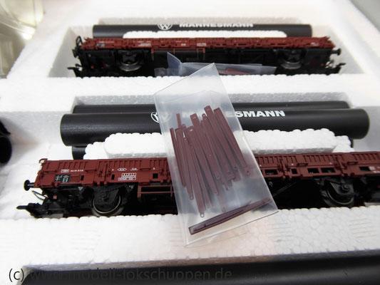 Märklin 26558 Einmalige Serie BR 44  DB mit schwerem Güterzug Stahlröhren    5