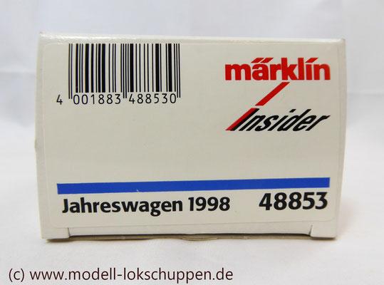 """Insider-Wagen 1997 Gedeckter Güterwagen mit Flachdach """"Osram"""" / H0 Märklin 48853     2"""