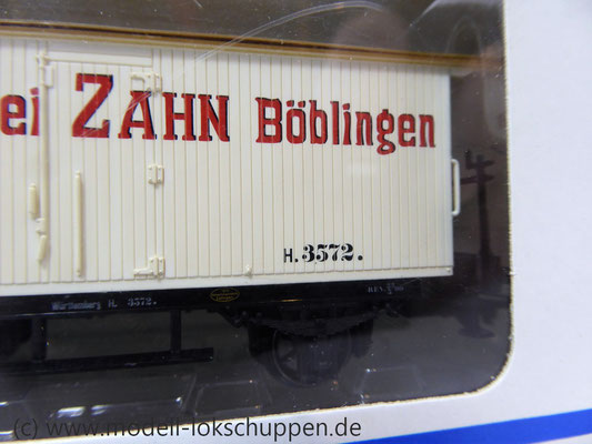 Märklin 48281 Bierwagen der K.W.St.E. Aktienbrauerei Zahn Böblingen    3