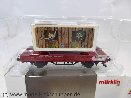 Märklin 48612 Märklin Kids Club 2012 Niderbordwagen Kklm m. 20 Fuß Container    3