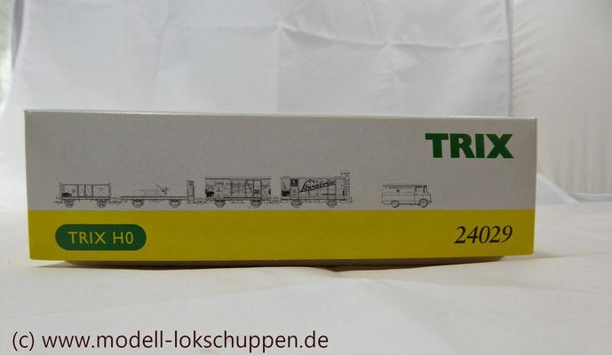 """Trix 24029 H0 Güterwagen-Set """"Schiffsausrüstung""""/ """"Tor zur Welt""""    1"""