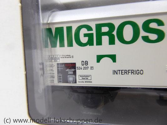 """Märklin 48150 Insider-Wagen 2006 Privat-/ Kühlwagen der Interfrigo  """"Migros Suisse""""    3"""