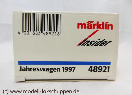 Märklin Insider Jahreswagen H0 Nr.48921 Von 1997   1
