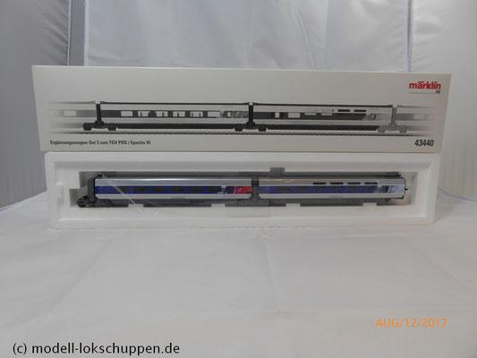 """Ergänzungswagen-Set """"TGV POS"""" Märklin 43440"""